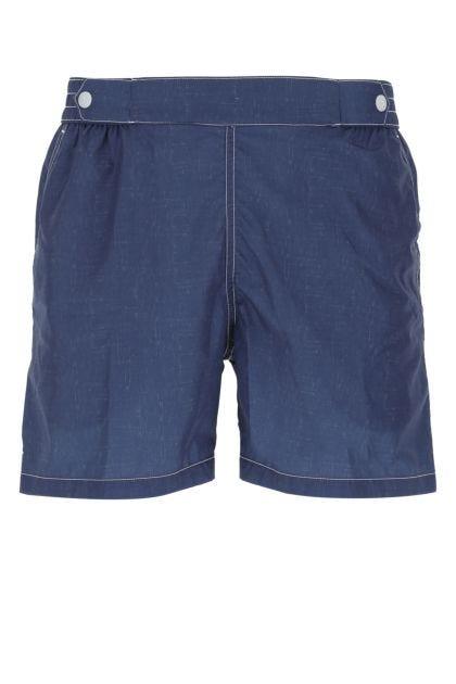 Blue polyester Luigi swimming shorts
