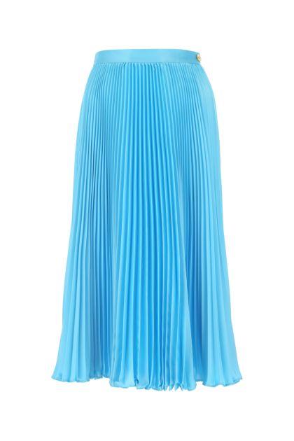 Light-blue satin skirt