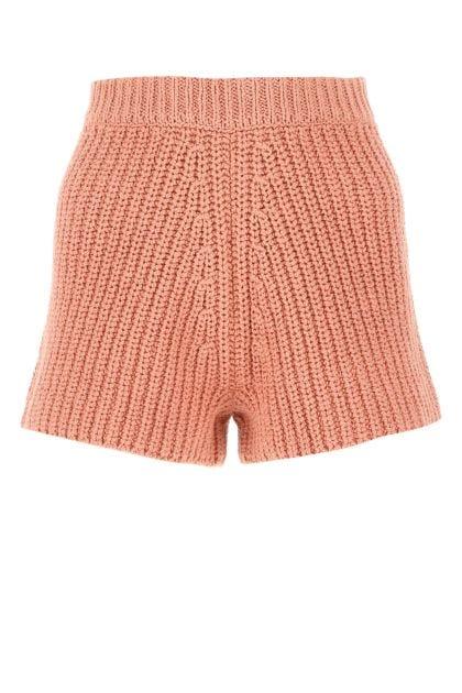 Salmon cotton shorts
