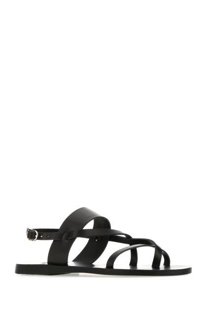 Black leather Alethea thong sandals