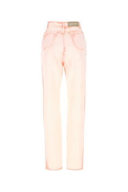 Pastel pink denim jeans