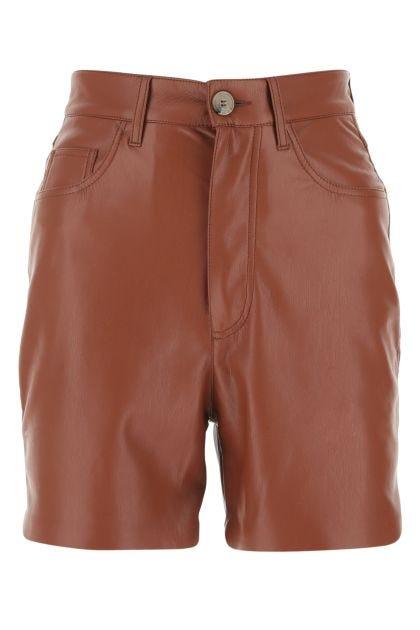 Brick synthetic leather Leana shorts