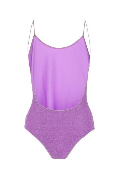 Purple polyester Lumière Maillot swimsuit