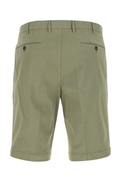 Sage green stretch cotton bermuda shorts