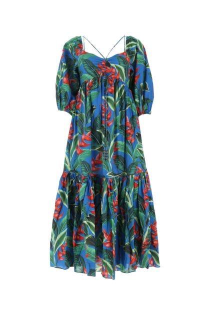 Printed organic cotton Dream Garden dress