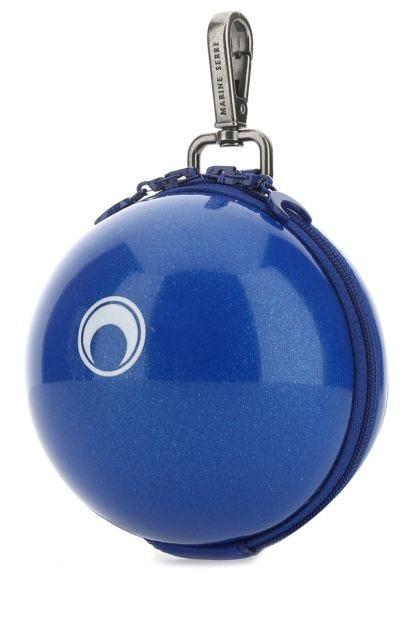 Blue PVC key ring