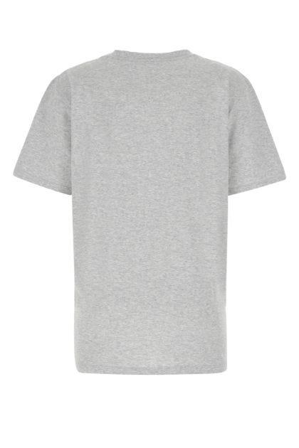 Melange grey cotton t-shirt
