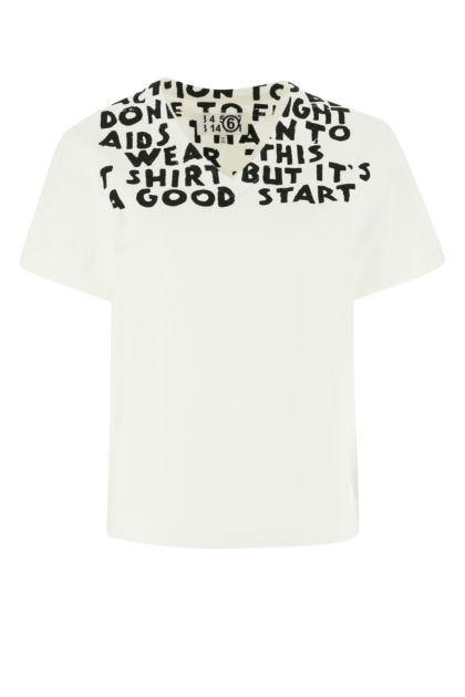 White gabardine t-shirt