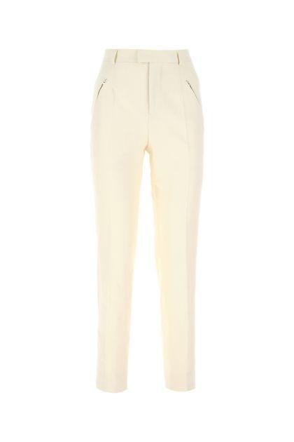 Ivory cotton pant