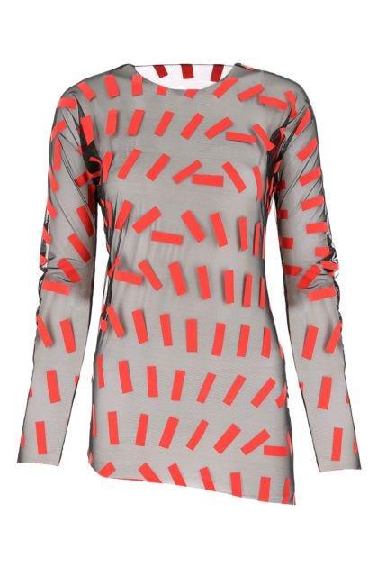 Printed stretch mesh top