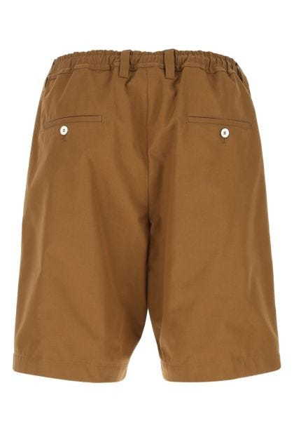 Caramel cotton bermuda shorts