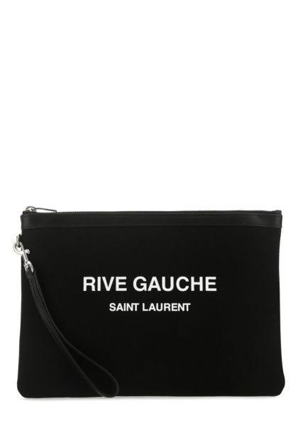 Black canvas Rive Gauche clutch