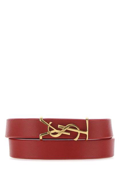 Red nappa leather bracelet