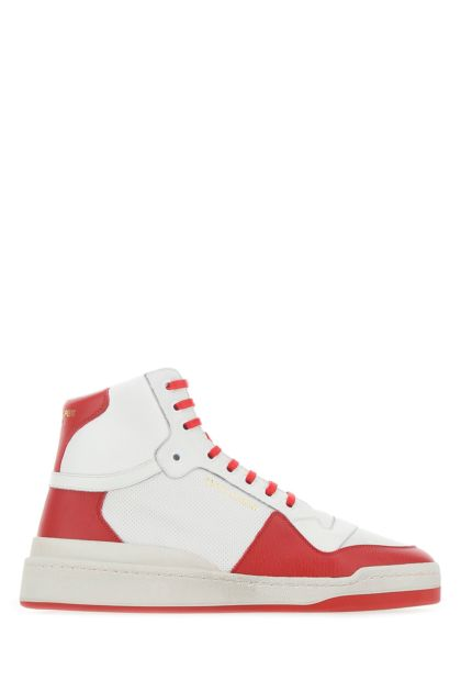 Two-tone leather SL/24 sneakers