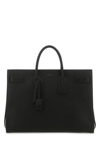Black leather large Sac de Jour handbag