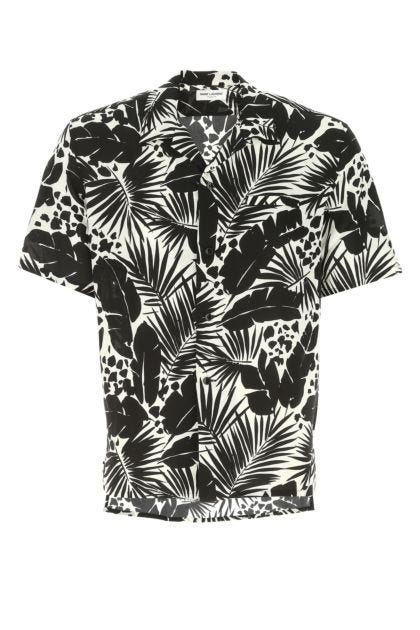 Printed crepe shirt