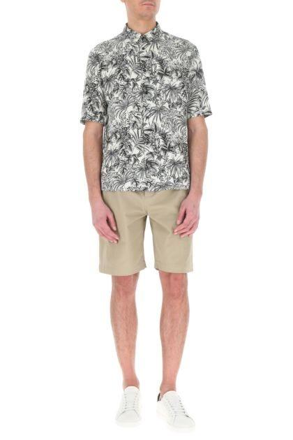 Cappuccino cotton bermuda shorts