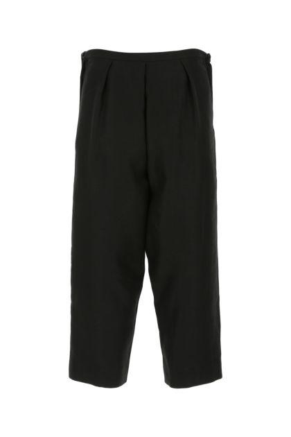 Black linen blend pant