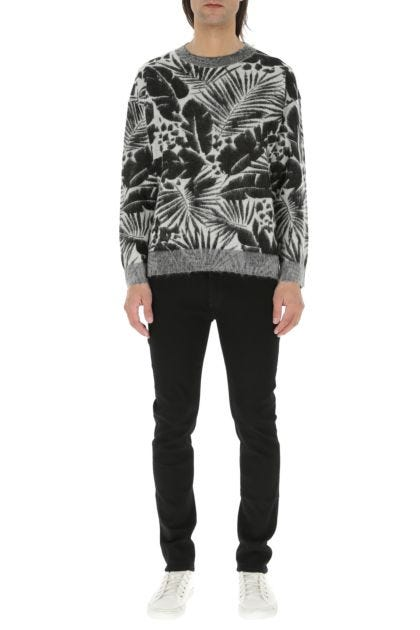 Embroidered viscose blend sweater