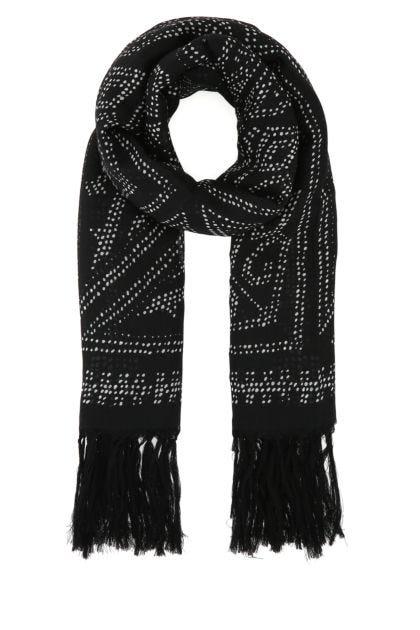 Printed wool foulard