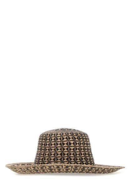 Two-tone straw Maui hat