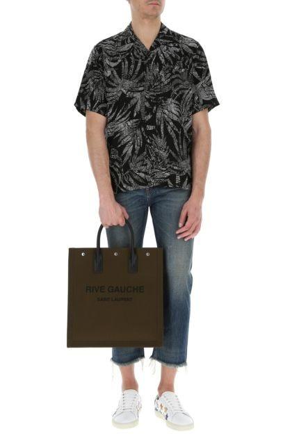 Kakhi cotton Noe shopping bag