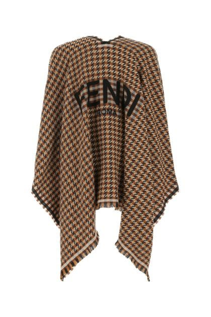 Embroidered wool cape