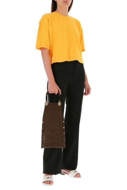 Printed suede Sunny handbag