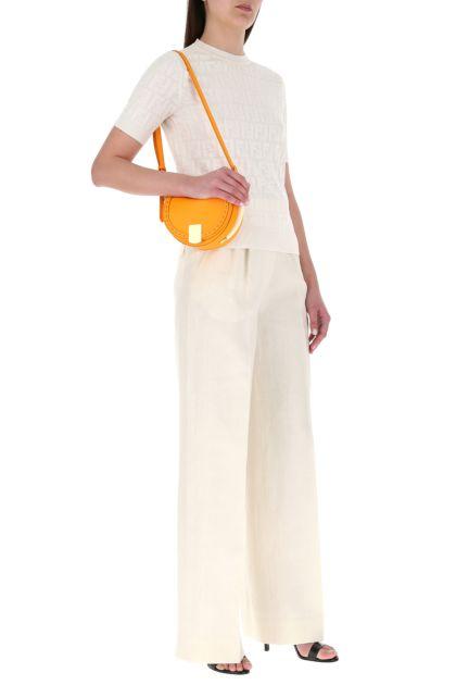 Orange leather Moonlight shoulder bag
