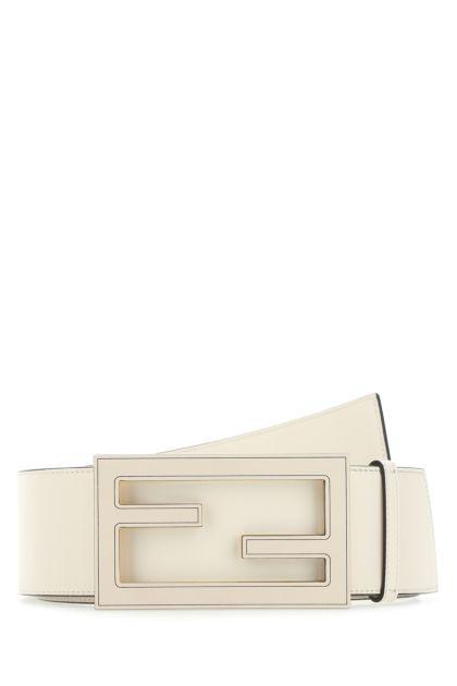 Ivory leather belt