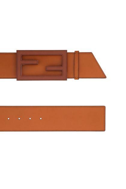 Camel leather belt