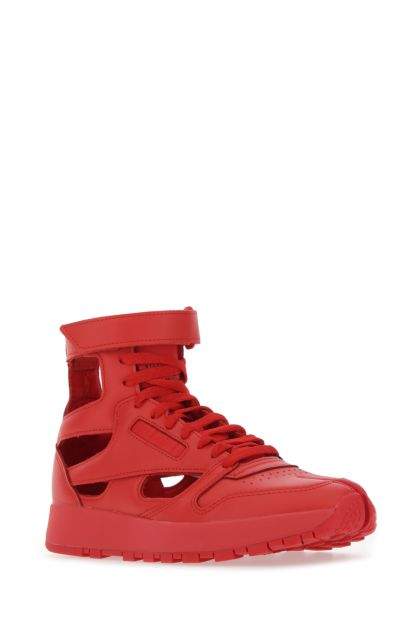 Red leather Gladiator sneakers