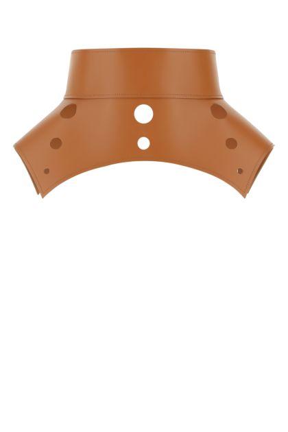 Camel leather Obi belt
