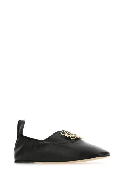 Black nappa leather Anagram ballerinas