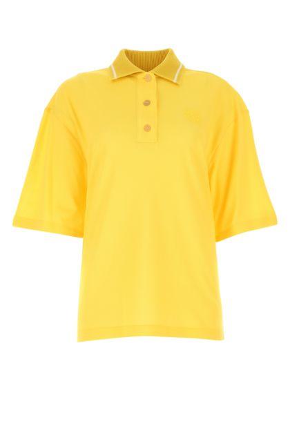 Yellow piquet polo shirt