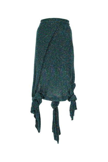 Embellished stretch nylon blend skirt