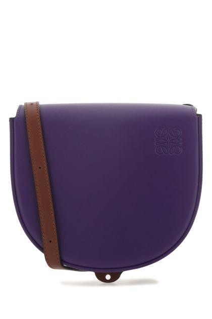 Two-tone leather Heel Duo crossbody bag