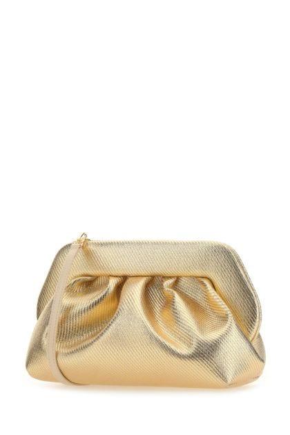 Gold fabric Bios clutch