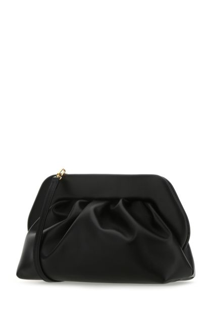 Black synthetic leather Bios clutch