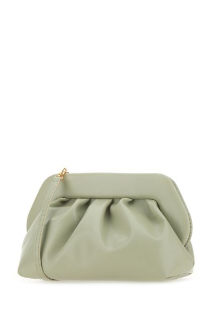 Sage green synthetic leather Bios clutch