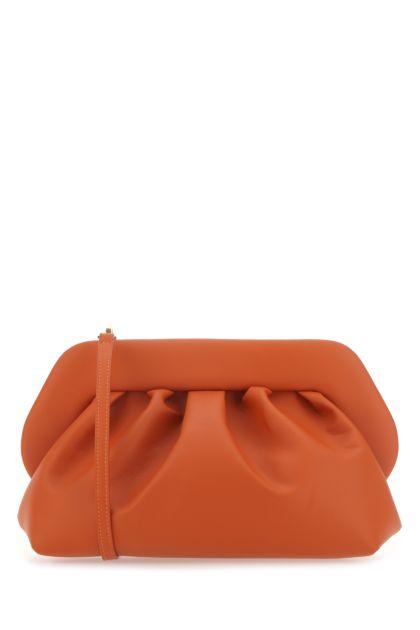 Dark orange synthetic leather Bios clutch