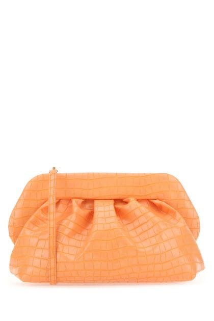 Peach synthetic leather Bios clutch