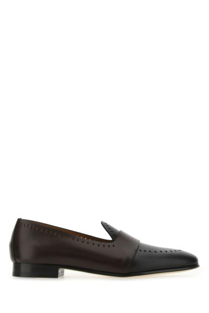 Two-tone leather Hamptons Band loafers
