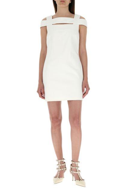 Ivory denim mini dress