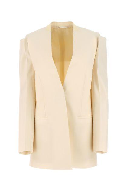 Cream wool blazer