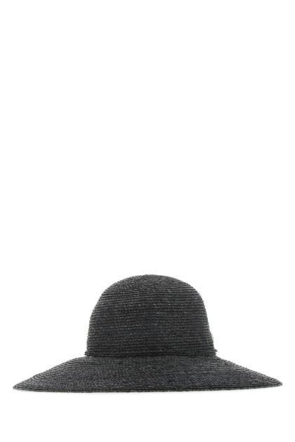 Slate raffia Delphina hat