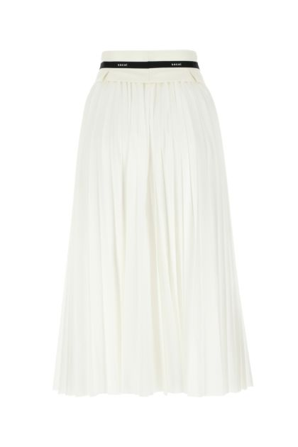 Two-tone polyester blend skirt