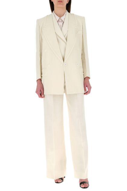 Ivory linen blazer
