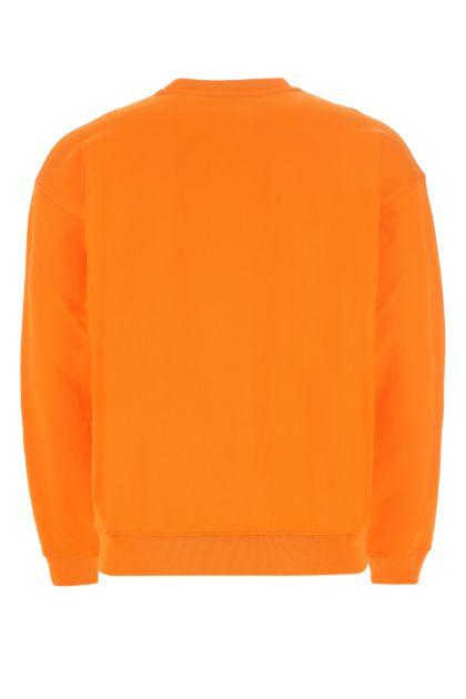 Orange cotton sweatshirt