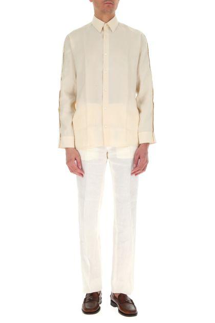 Cream modal blend shirt